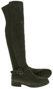 Womens Ladies Genuine Suede Tall Warm Above The Knee Boots With Zip Thumbnail 9
