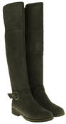 Womens Ladies Genuine Suede Tall Warm Above The Knee Boots With Zip Thumbnail 10