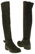 Womens Ladies Genuine Suede Tall Warm Above The Knee Boots With Zip Thumbnail 12