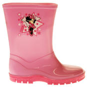 Girls Disney Minnie Mouse Waterproof Comfy Pink Wellies Wellington Boots Thumbnail 3