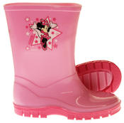 Girls Disney Minnie Mouse Waterproof Comfy Pink Wellies Wellington Boots Thumbnail 4