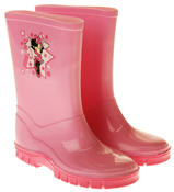 Girls Disney Minnie Mouse Waterproof Comfy Pink Wellies Wellington Boots Thumbnail 5
