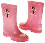 Girls Disney Minnie Mouse Waterproof Comfy Pink Wellies Wellington Boots Thumbnail 7