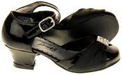 Girls RSB London Low Heel Wedding Shoe Diamente Feature Bridal Formal Court Shoes Thumbnail 4