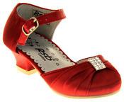 Girls RSB London Low Heel Wedding Shoe Diamente Feature Bridal Formal Court Shoes Thumbnail 7