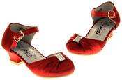 Girls RSB London Low Heel Wedding Shoe Diamente Feature Bridal Formal Court Shoes Thumbnail 11