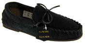 LodgeMok Mens Genuine Suede Moccasin Slippers Thumbnail 2