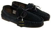 LodgeMok Mens Genuine Suede Moccasin Slippers Thumbnail 5