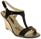 Womens Ladies Elisabeth Leather Wedged Sandals Thumbnail 2