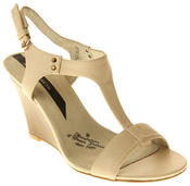 Womens Ladies Elisabeth Leather Wedged Sandals Thumbnail 7
