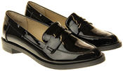 Womens Ladies Betsy Synthetic Leather Work Office Formal Loafers Thumbnail 10