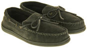 Mens Northwest Territory Leather Moccasin Slippers Thumbnail 4