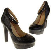 Womens Ladies Betsy Synthetic Leather Heeled Court Shoes Thumbnail 12