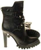 Womens Ladies Betsy synthetic leather Mid Calf Boots Thumbnail 4
