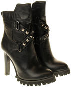 Womens Ladies Betsy synthetic leather Mid Calf Boots Thumbnail 5