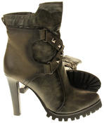 Womens Ladies Betsy synthetic leather Mid Calf Boots Thumbnail 9