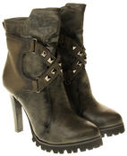 Womens Ladies Betsy synthetic leather Mid Calf Boots Thumbnail 10
