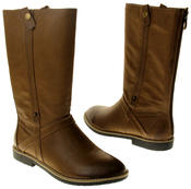 Womens Ladies Betsy Faux Leather Mid Calf Boots Thumbnail 6