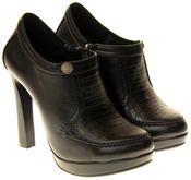 Womens Ladies Faux Leather High Heel Court Shoes Thumbnail 5