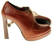 Womens Ladies Faux Leather High Heel Court Shoes Thumbnail 9