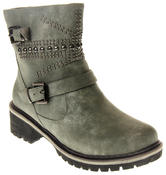 Womens Ladies Betsy Faux Leather Decorative Studs Faux Fur Lining Winter Ankle Boots Size 3 4 5 6 7 8 Thumbnail 2