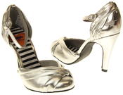 Womens Ladies Rocket Dog Silver High Heel Sandals Thumbnail 6