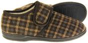 Mens Four Seasons Fleece Lined Checkered Design Slipper Shoes Thumbnail 4