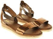 Womens Ladies Keddo Bronze Faux Leather Gladiator Sandals Thumbnail 4