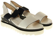 Womens Ladies Betsy Faux Leather Platform Sandals Thumbnail 5