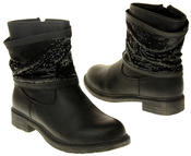 Womens Ladies Keddo Faux Leather Ankle Boots Thumbnail 5
