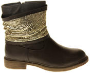 Womens Ladies Keddo Faux Leather Ankle Boots Thumbnail 6