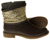 Womens Ladies Keddo Faux Leather Ankle Boots Thumbnail 7