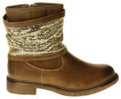 Womens Ladies Keddo Faux Leather Ankle Boots Thumbnail 9