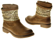 Womens Ladies Keddo Faux Leather Ankle Boots Thumbnail 12