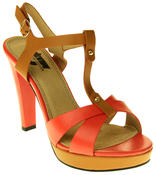 Womens Ladies Betsy Faux Leather High Heeled Sandals Thumbnail 7
