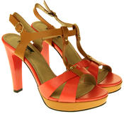 Womens Ladies Betsy Faux Leather High Heeled Sandals Thumbnail 10