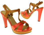 Womens Ladies Betsy Faux Leather High Heeled Sandals Thumbnail 11