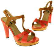 Womens Ladies Betsy Faux Leather High Heeled Sandals Thumbnail 12