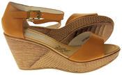 Womens Ladies Elisabeth Buckle Closure Wedged Summer Sandals Thumbnail 4