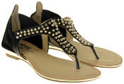 Womens Ladies Betsy Faux Leather Flip Flop Sandals Thumbnail 5