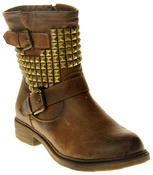 Womens Ladies Keddo Faux Leather Ankle Boots Thumbnail 2