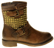 Womens Ladies Keddo Faux Leather Ankle Boots Thumbnail 3