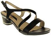 Womens Ladies Elisabeth Faux Leather Low Block Heel Sandals Thumbnail 2