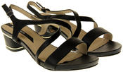 Womens Ladies Elisabeth Faux Leather Low Block Heel Sandals Thumbnail 5