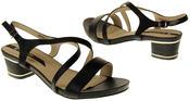 Womens Ladies Elisabeth Faux Leather Low Block Heel Sandals Thumbnail 6