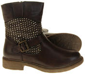 Womens Ladies Keddo Faux Leather Ankle Boots Thumbnail 4