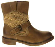 Womens Ladies Keddo Faux Leather Ankle Boots Thumbnail 8
