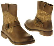 Womens Ladies Keddo Faux Leather Ankle Boots Thumbnail 11