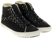 Womens Ladies Keddo Faux Suede Faux Fur Hi Top Trainer Boots Thumbnail 10