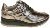 Womens Ladies Keddo Leather Trainers Thumbnail 3